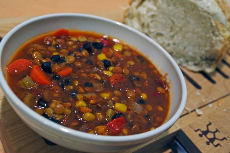 Lentils, Black beans and Chili on Pinterest