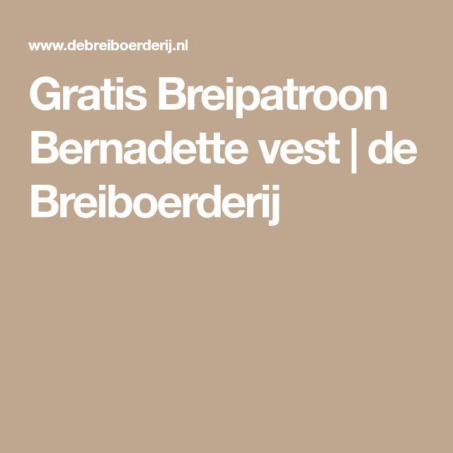 Gratis Breipatroon Bernadette vest   de Breiboerderij