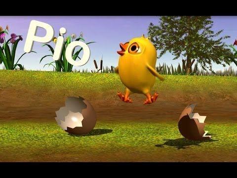 El Pollito Pío 3D - Canciones de la Granja 2 - YouTube  Para practicar los ruidos de los animales