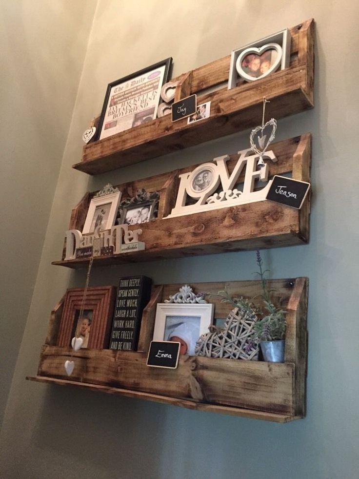 Shabby Chic Single Shelf Unit Shelving Wooden shelves