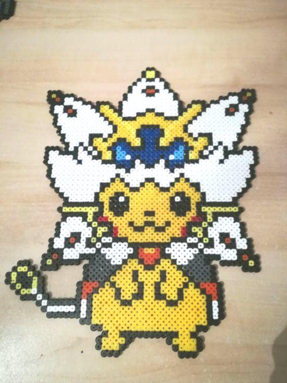 Pixel Art Perler Beads Pokemon Pikachu Solgaleo Art Beads Perler Pikachu Pixel Pokemon Pokemon Perle Coloriage Pokemon Legendaire Perles Hama Pokemon