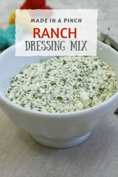 Clean out your pantry and your fridge and stock this simple mix instead.  Easy to make, healthier than store-bought and so yummy!  ranch, ranch dressing, ranch dressing mix, ranch mix, ranch recipes
