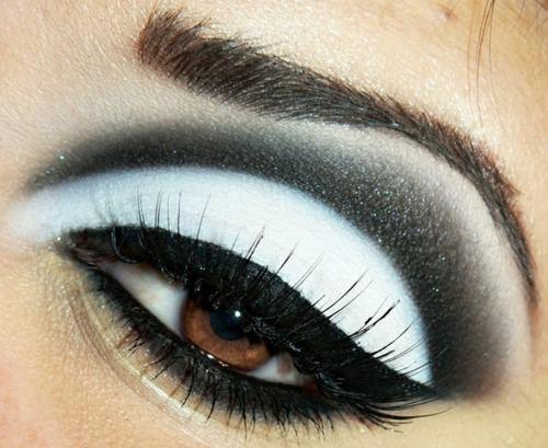 black & white drama eye makeup | beauty do's | Pinterest ... Dramatic Black Eye Makeup