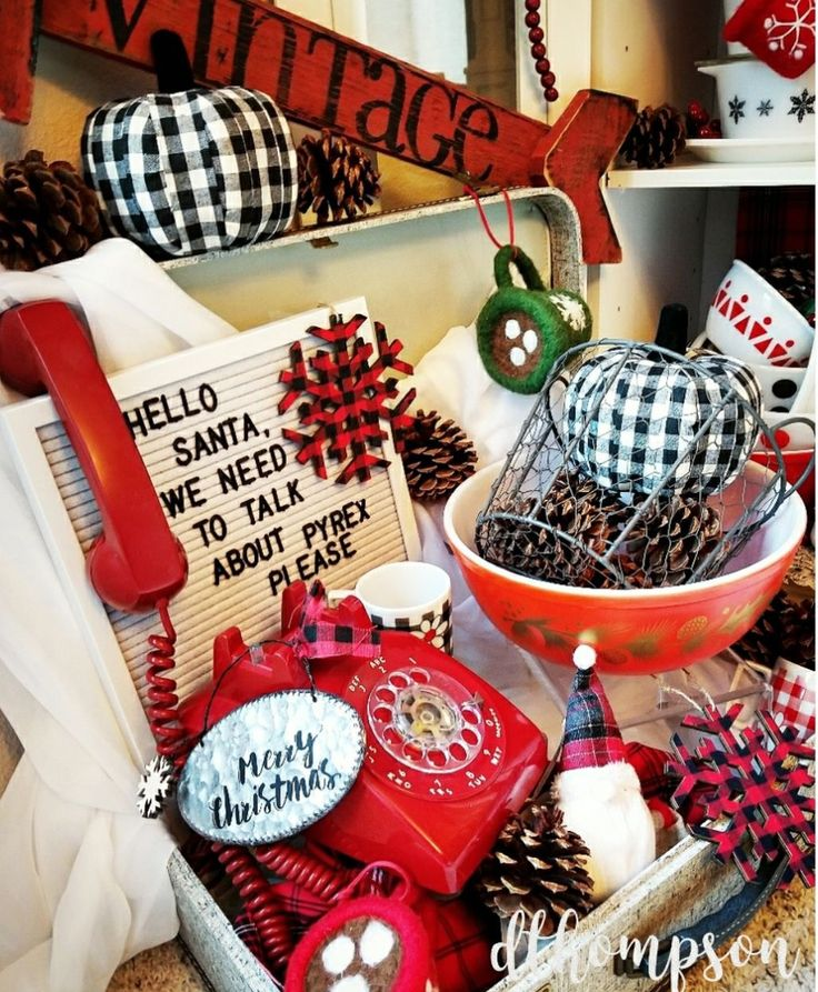 Such a cute display! Great way to use the rotary phone and message board! Pic by Dawn Bornheim Thompson