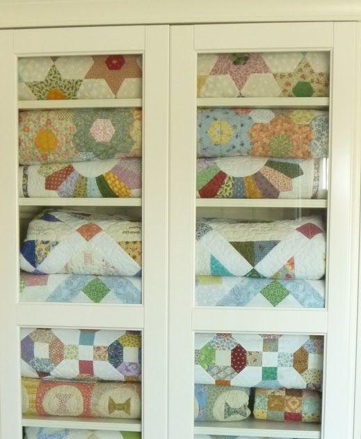 Unique Glass Quilt Storage Cabinets