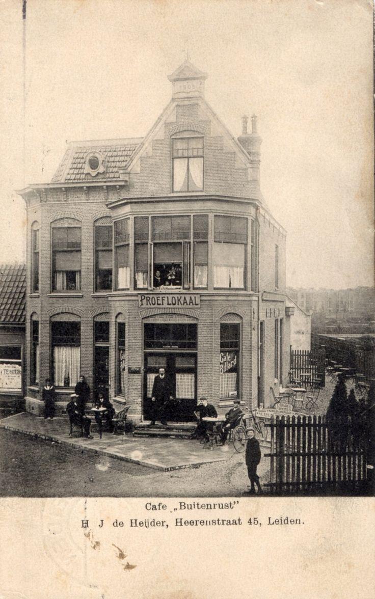 Heerenstraat 45, Café Buitenrust. ca. 1907