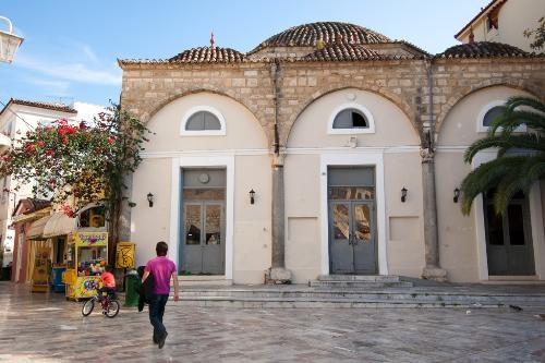 Nafplion -  Details: www.culture.gr; Admission 2€. Apr-Oct daily 8:30am-7pm, Nov-Mar daily 8am-5pm.    Photo Caption: Old mosque at Nafplion, Peloponnese, Greece.    Photo by Yannis Lefakis