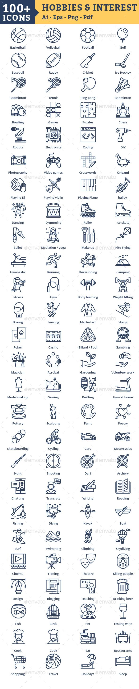 Hobbies Icons And Interests Icons Download Icon Resume Icons Best Icons