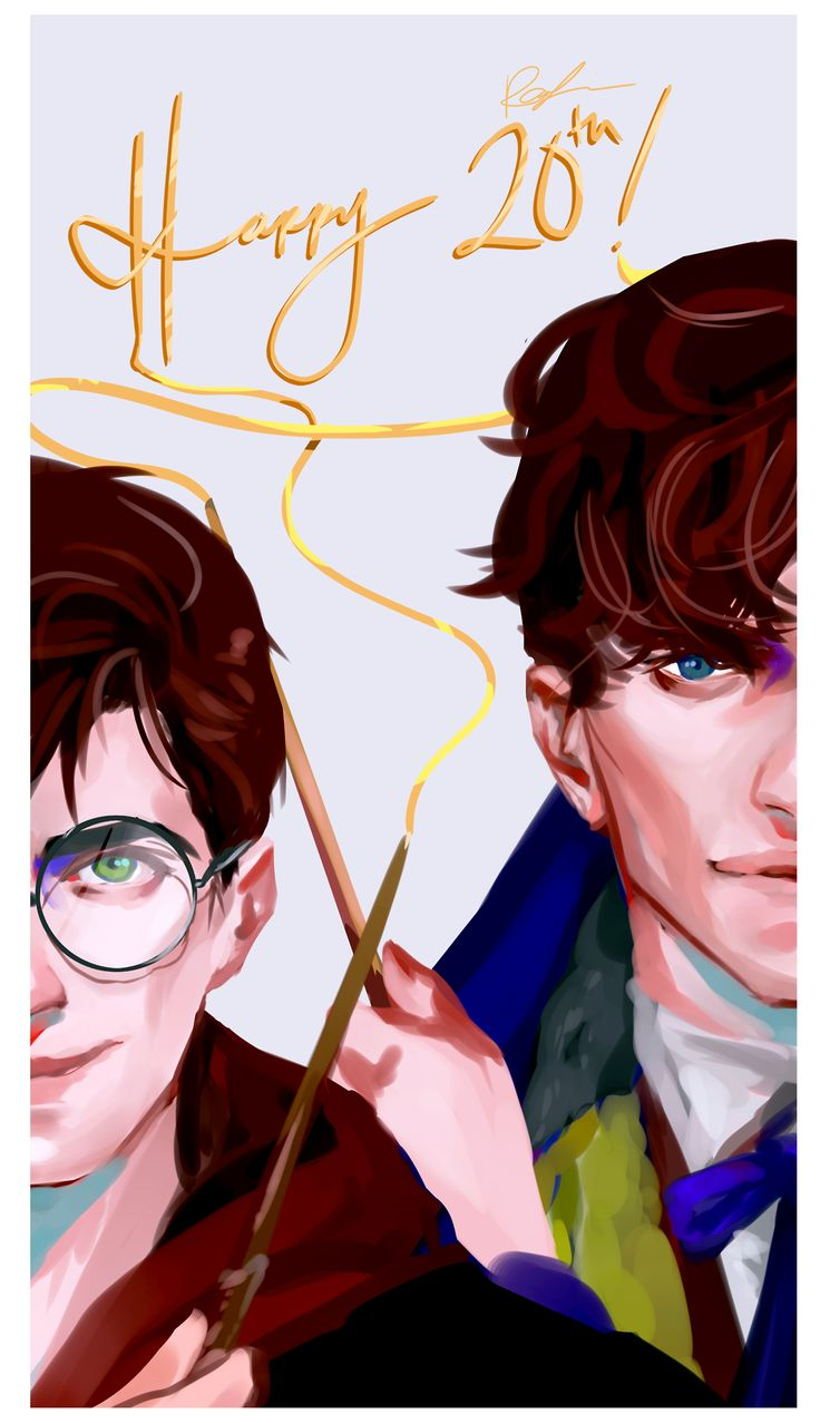 Happy 20th anniversary of Harry Potter! - Harry Potter and Newt Scamander.