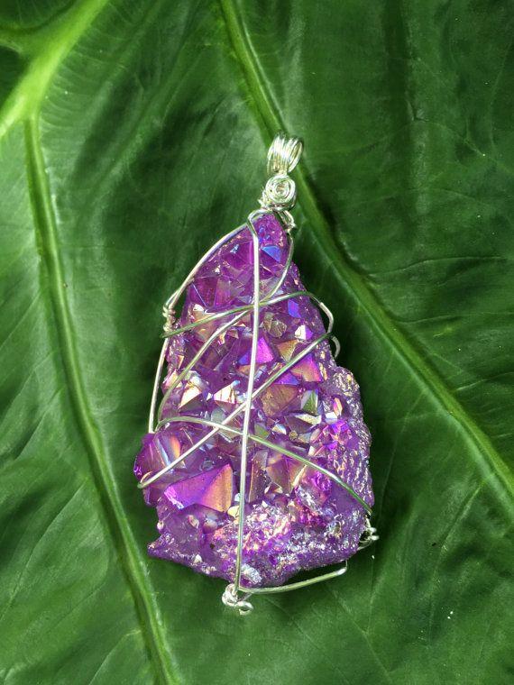 Hey, I found this really awesome Etsy listing at https://www.etsy.com/listing/465756889/aura-quartz-amethyst-aura-purple-aura