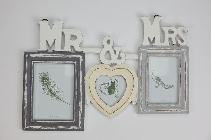 Moldura Múltiplo Mr & Mrs 49 x 35 cm | A Loja do Gato Preto | #alojadogatopreto | #shoponline | referência 119265598