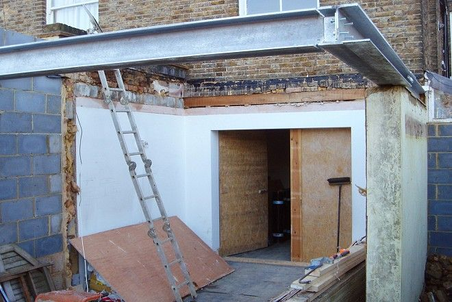Building works for #extension on London terrace
