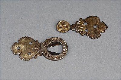 Hook and eyelet.  Burs, Gotland, Sweden  1250-1350
