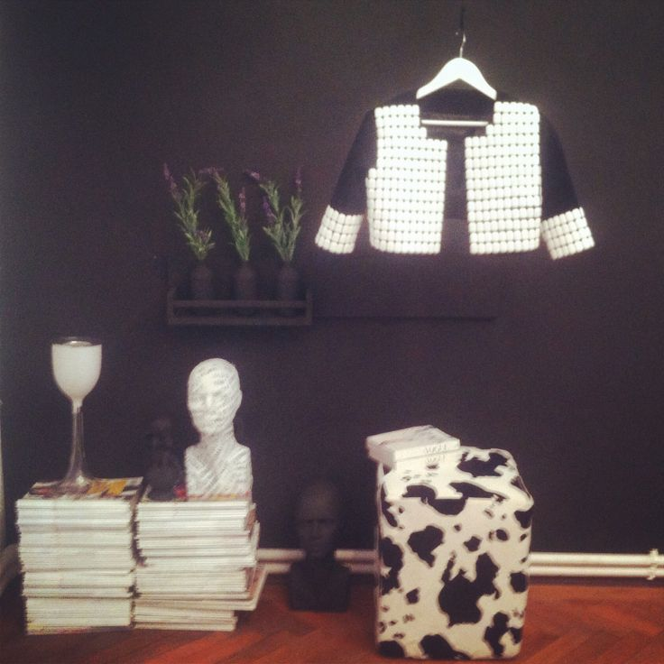 Beautiful neoprene bolero with white plexiglass details from our Spring Black and White Capsule Collection