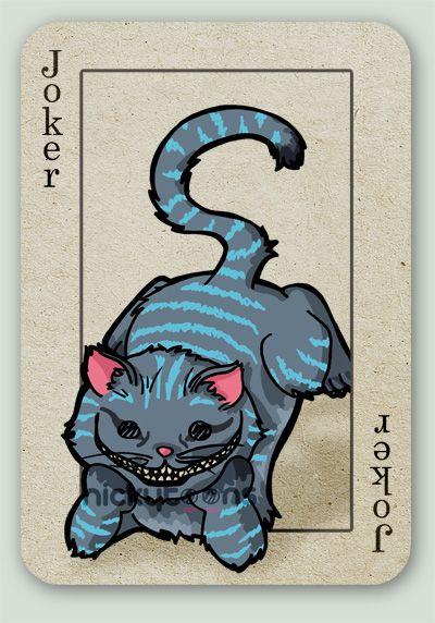 Tim Burton's Alice card series. Cheshire Cat.