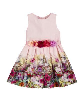 Flower Border Dress