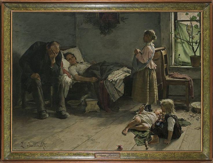 Zdzisław Jasiński (1863 - 1932)   Chora matka 1889