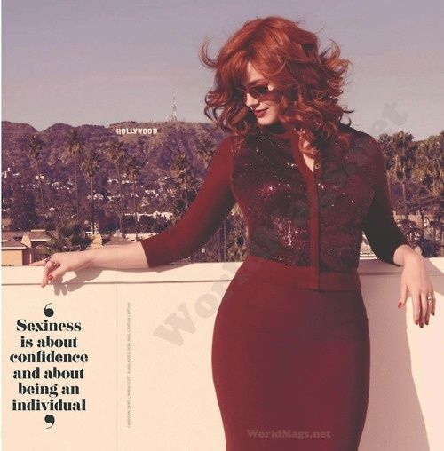sexiness is about confidence and about being an individual.  christina hendrix redheads-only personal-development personal-development