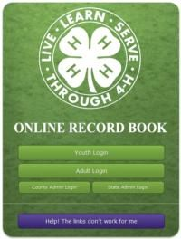 The record book info. Your record books are rated and you get rating star patches for your 4h hat