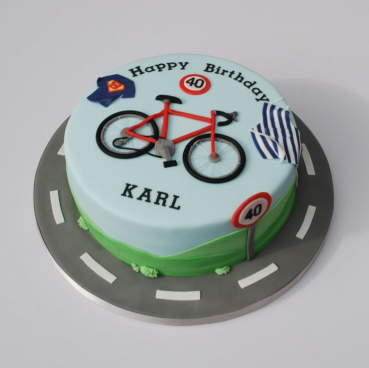 Birthday cake for a cycling, baking and superman fan!