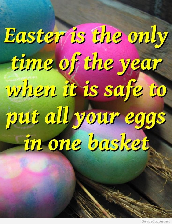 Funny Easter quote 2014 with eggs