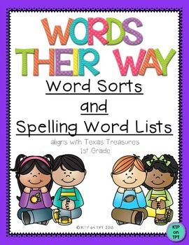 Please download the PREVIEW to get the Table of Contents and two sample word sorts!This 140 page pack contains Word Sorts and Spelling Word Lists that I have created for my first grade classroom.  The sound patterns are follow the order of our reading adoption, Texas Treasures, but I know these lists and word sorts will work for any primary classroom!!!I use these Word Sorts for homework and for a Word Work center.
