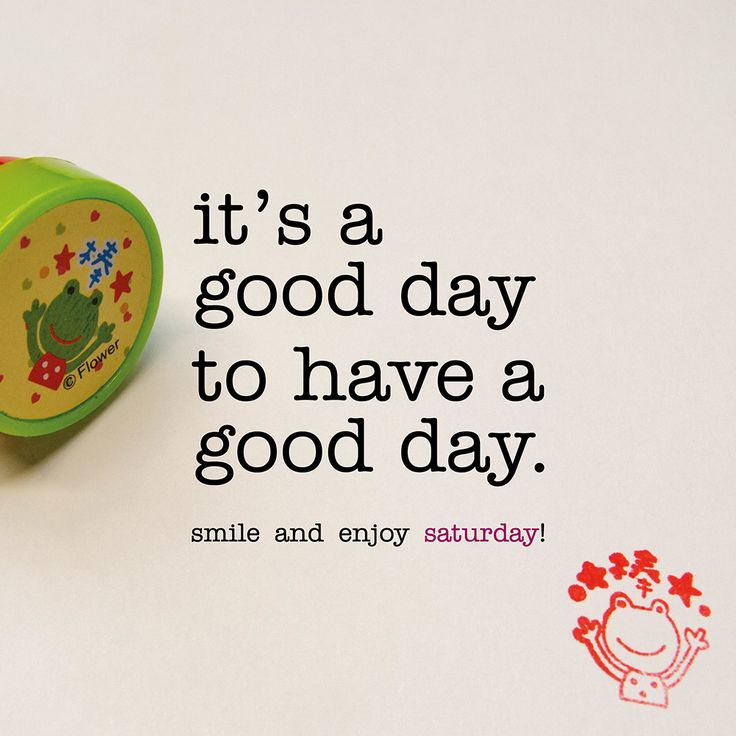 it's a good day to have a good day. saturday quote
