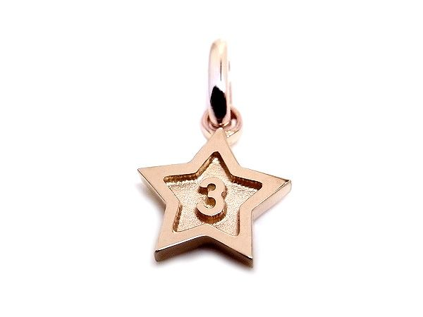 24 best k18 pg number jewelry images on pinterest gold number k18 rose gold number 3 pendant charms star frame 3 all mozeypictures Image collections