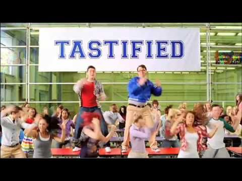 This advert is shot in a parody style, sharing links to the film High School Musical, this makes the video appealing and also gains the interest of the target market