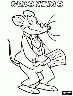 Geronimo Stilton coloring pages!