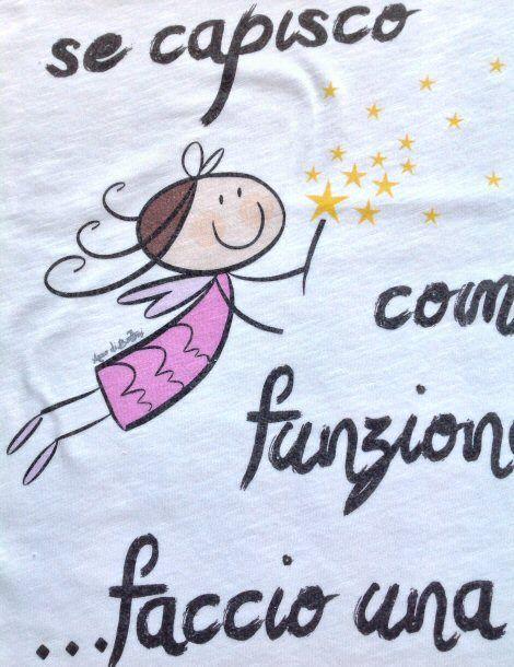Particolare della fata http://www.assodibottoni.com/tshirt-maglietta-donna-secapiscocomefunzionafacciounastrage.html