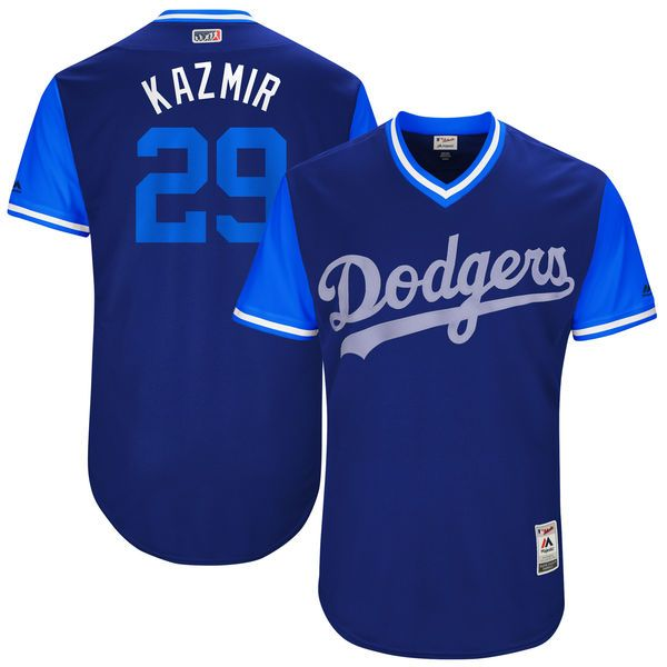 "Scott Kazmir ""Kazmir"" Los Angeles Dodgers Majestic 2017 Players Weekend Authentic Jersey - Royal - $199.99"