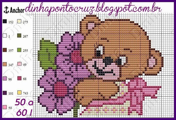 http://dinhapontocruz.blogspot.com.br/2015/05/ursinhas-monograma-ponto-cruz.html