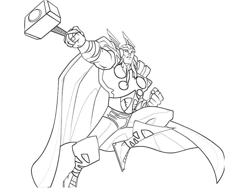 thor printable coloring pages - Thor Printable Coloring Pages