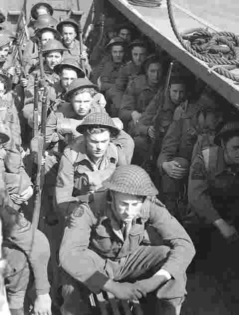 This picture shows inside of a boat heading towards Dieppe. Unfortunally most of these soilders most likely would not of even made it to the shores of Dieppe.
