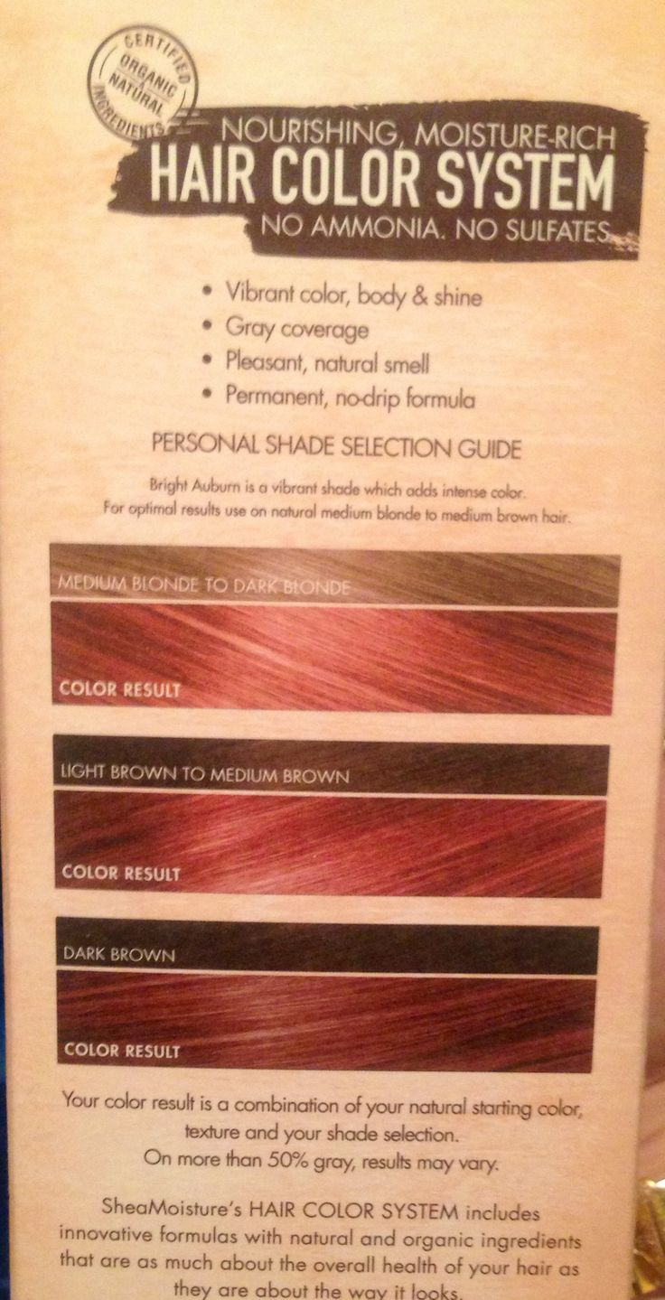 Shea Moisture Hair Color Bright Auburn