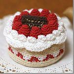 【無料編み図】クロッシェ・パティシエのケーキ小箱