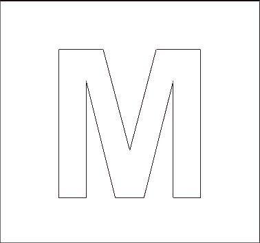 capital m stencil