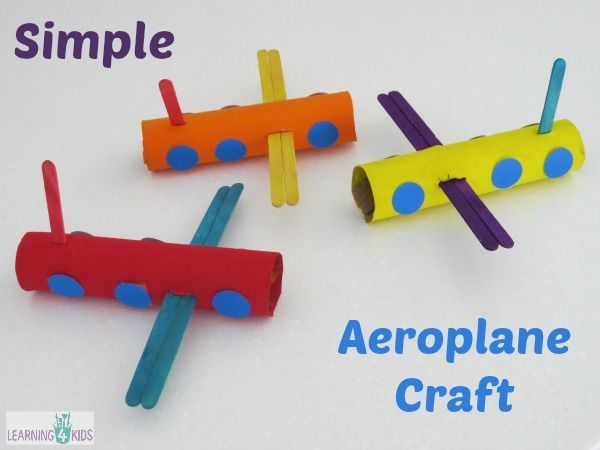 Super Simple Aeroplane Craft for Kids and Toddlers