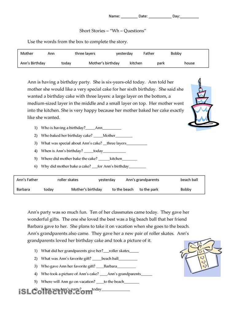 Reading With Questions Worksheets : Short stories wh questions answers english language