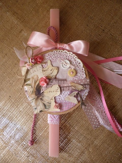 Irene & Nicki Create!  :                  Dress Form Hoop Easter Candle  Hi...