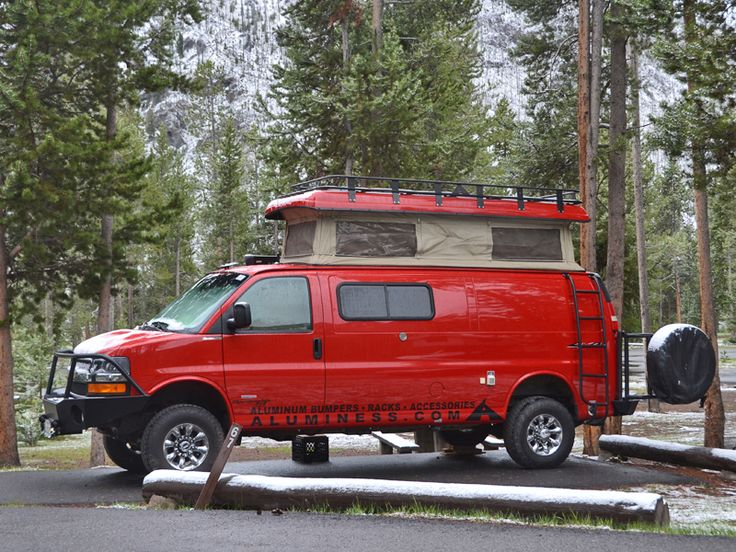 Chevy Van Aluminum Bumpers, Roof Rack and Ladder | Aluminess Products, Inc.