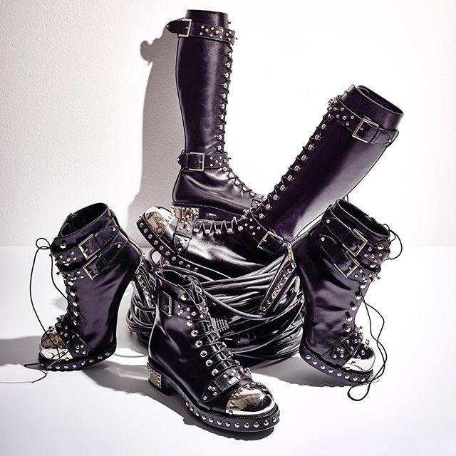Alexander McQueen S/S17 Hobnail Boots