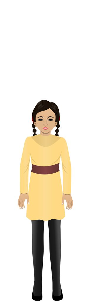 Goli - East Indian child avatar for eLearning with Adobe Captivate, Techsmith Camtasia, and Articulate Storyline.