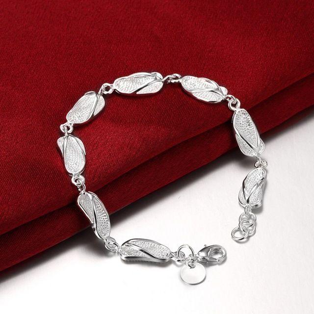 Тапочки Подвески 925 Серебряные украшения из чистого серебра гальваническим pulseiras браслеты браслеты H155 Сувениры