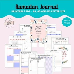 Ramadan Planner, Ramadan tracker, Ramadan journal, Islamic ...