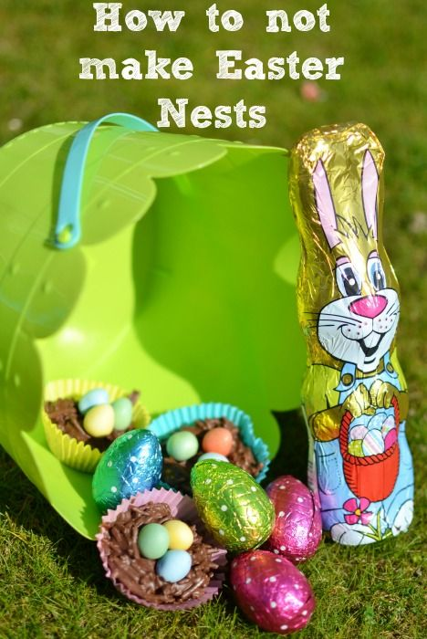 How not to make Easter Chocolate Nests - mytwomums.com