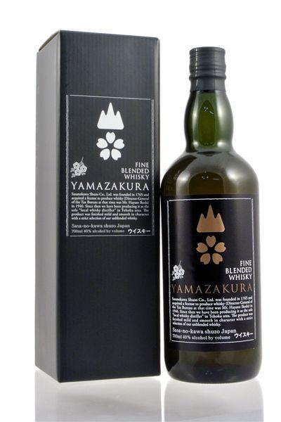 山桜 黒ラベル ブレンデッドウイスキー 40% 700ml 笹の川酒造YAMAZAKURA BLACK LABEL Blended Whisky 40% 70cl SASANOKAWA SHUZO