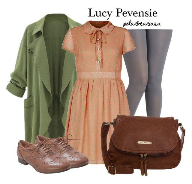 """""""Lucy Pevensie•The Chronicles of Narnia"""" by polarbeariana ❤ liked on Polyvore featuring Cutie, Miz Mooz, Anna Field, Narnia and LucyPevensie"""