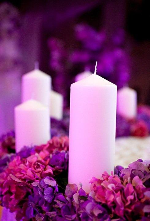 hydrangea & candles